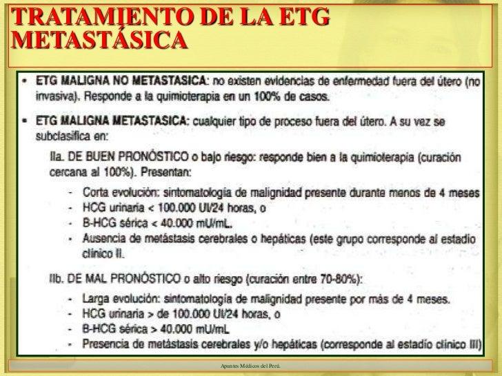 TRATAMIENTO DE LA ETGMETASTÁSICA             Apuntes Médicos del Perú.