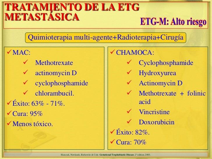 TRATAMIENTO DE LA ETGMETASTÁSICA     Quimioterapia multi-agente+Radioterapia+CirugíaMAC:                                 ...