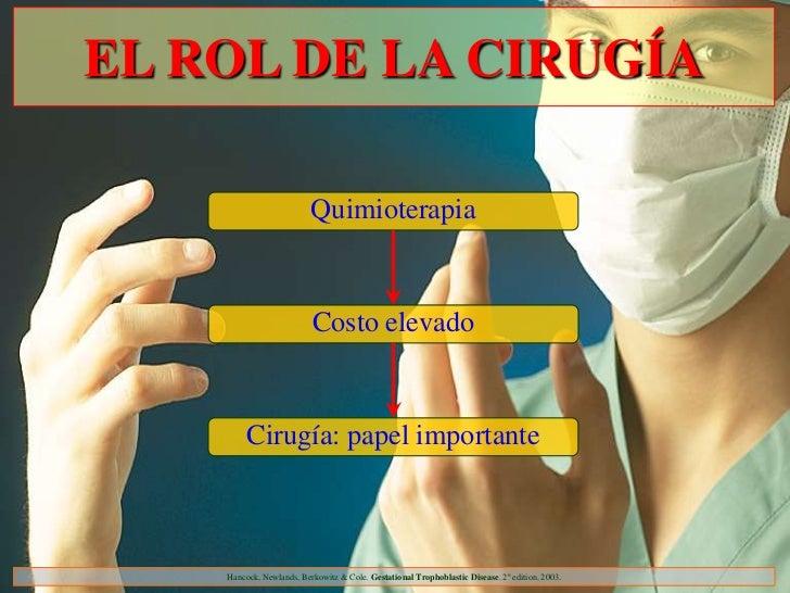 EL ROL DE LA CIRUGÍA                          Quimioterapia                          Costo elevado         Cirugía: papel ...