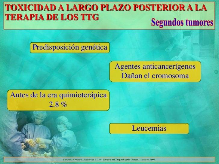 TOXICIDAD A LARGO PLAZO POSTERIOR A LATERAPIA DE LOS TTG       Predisposición genética                                    ...