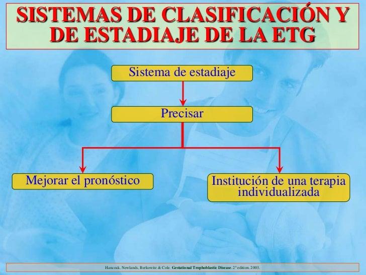 SISTEMAS DE CLASIFICACIÓN Y   DE ESTADIAJE DE LA ETG                           Sistema de estadiaje                       ...