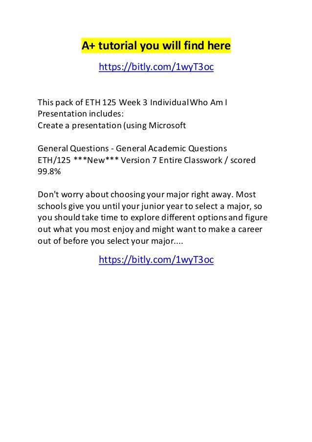 Eth 125 worksheet 1