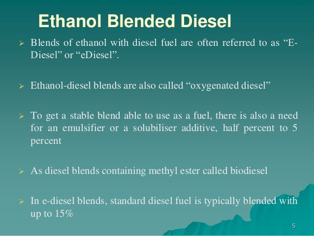 the advantages of using ethanol blended fuels Sustainable energy advantages of ethanol–gasoline blends as fuel substitute for last generation si engines.