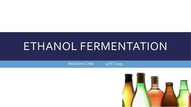 ETHANOL FERMENTATION MOKSHA CHIB 13FET1003