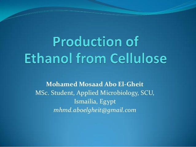 Mohamed Mosaad Abo El-Gheit MSc. Student, Applied Microbiology, SCU, Ismailia, Egypt mhmd.aboelgheit@gmail.com