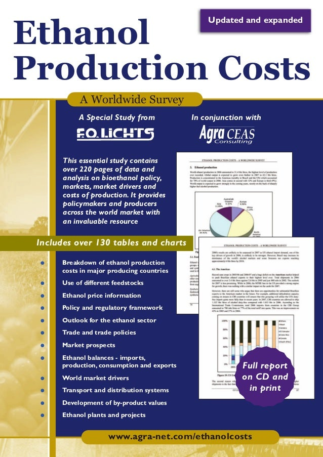 SR147ToPrint29-10-07  29/10/07  16:23  Page 1  Updated and expanded  Ethanol Production Costs A Worldwide Survey A Special...