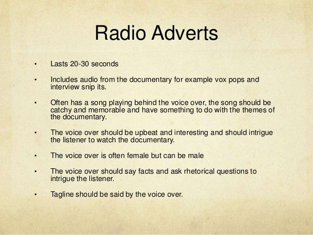 how to make a radio ad
