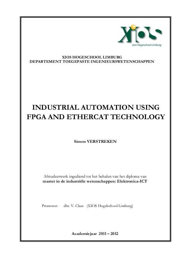 Afstudeerwerk ingediend tot het behalen van het diploma van master in de industriële wetenschappen: Elektronica-ICT Promot...
