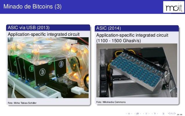 29 / 80 Minado de Bitcoins (3) ASIC vía USB (2013) Application-specific integrated circuit Foto: Mirko Tobias Schäfer ASIC ...