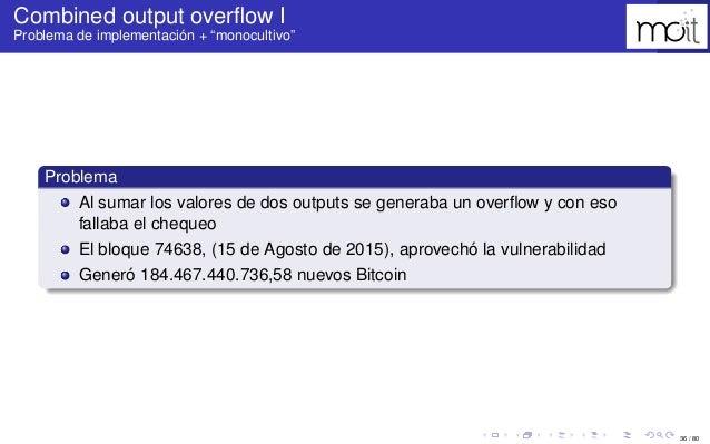 """36 / 80 Combined output overflow I Problema de implementación + """"monocultivo"""" Problema Al sumar los valores de dos outputs ..."""