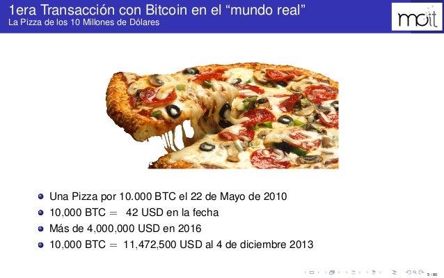 """5 / 80 1era Transacción con Bitcoin en el """"mundo real"""" La Pizza de los 10 Millones de Dólares Una Pizza por 10.000 BTC el ..."""