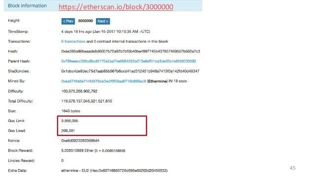 45 hHps://etherscan.io/block/3000000