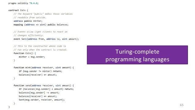 Turing-complete programminglanguages 65