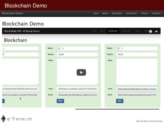 Blockchain Demo https://anders.com/blockchain/