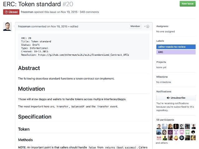 Smart Contract - ERC-20 https://github.com/ethereum/EIPs/issues/20 Smart contract a b