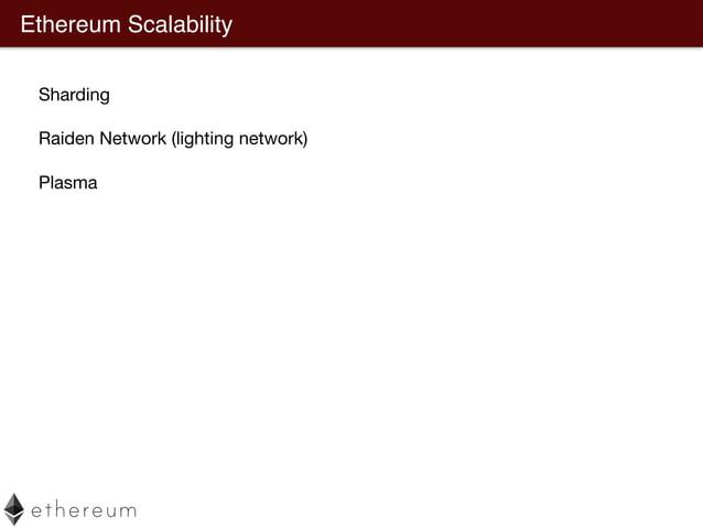 Ethereum Scalability - Sharding https://github.com/ethereum/wiki/wiki/Sharding-FAQ 0x1 0x2 0x3 0x4 … Challenges Cross shar...