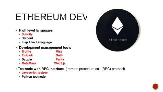 Ethereum dapps20180120