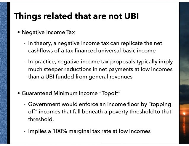 Perspectives on a Universal Basic Income Slide 3