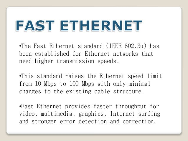 comparing speeds of the ethernet and token rings