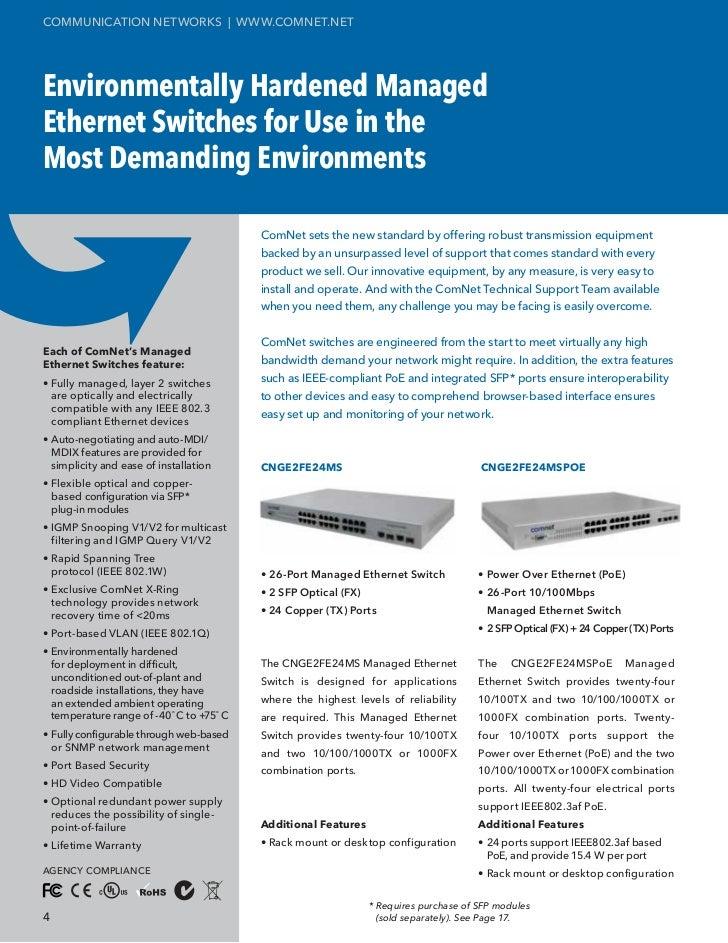 ComNet Ethernet Brochure