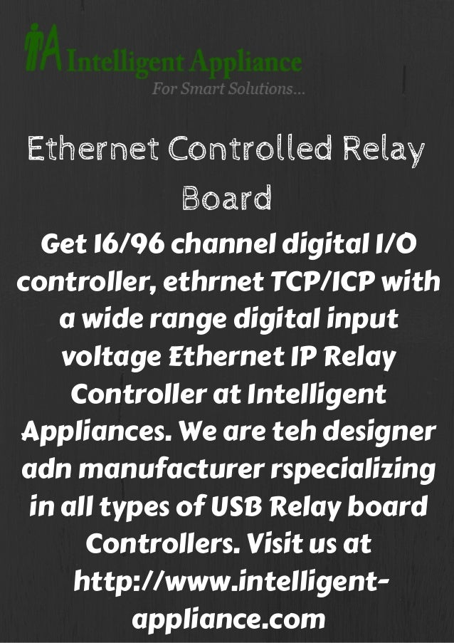 Ethernet controlled relay board