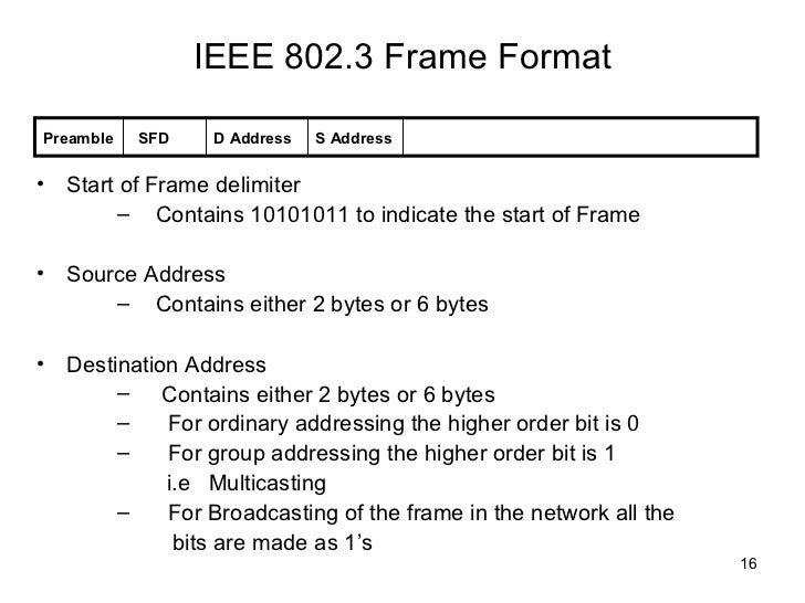 802 3 frame format - Tole.quiztrivia.co