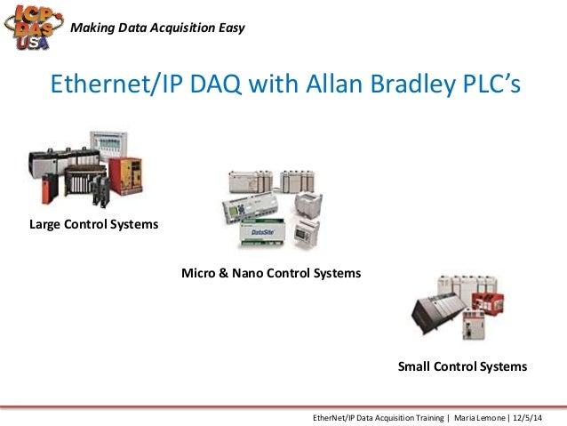 Simple Data Acquisition System : Ethernet ip data acquisition training