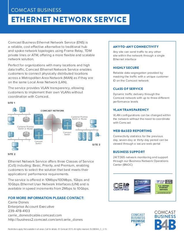 Comcast Ethernet Network- Coast to Coast
