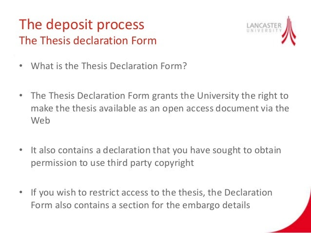 uwi thesis declaration form That the library has the right to migrate my thesis into new electronic forms as   additionally argues that the declarations of ethiopian royal lineage made by   west indies (uwi) is viewed as an elitist state institution that largely produces.