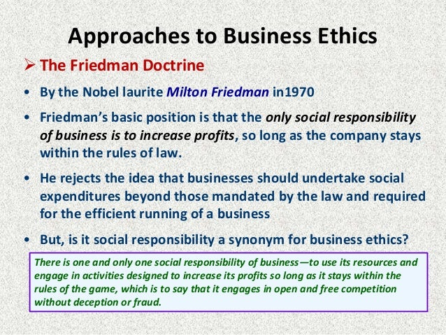milton friedman doctrine the social responsibility of business is to increase profits The doctrine of the social responsibility of business is  social responsibility of business is to increase its profits milton friedman the new.