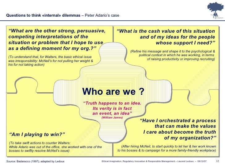 """Who are we ? """" What are the other strong, persuasive, competing interpretations of the  situation or problem that I hope t..."""