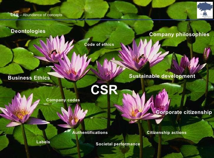 CSR Business Ethics Sustainable development Corporate citizenship Code of ethics Authentifications Labels Societal perform...