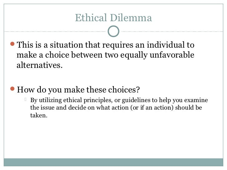 ethical dilemma in the medical field In the biomedical engineering field, there are many health-related ethical situations, and a code of ethics that is set in place to provide guidance in these situations.
