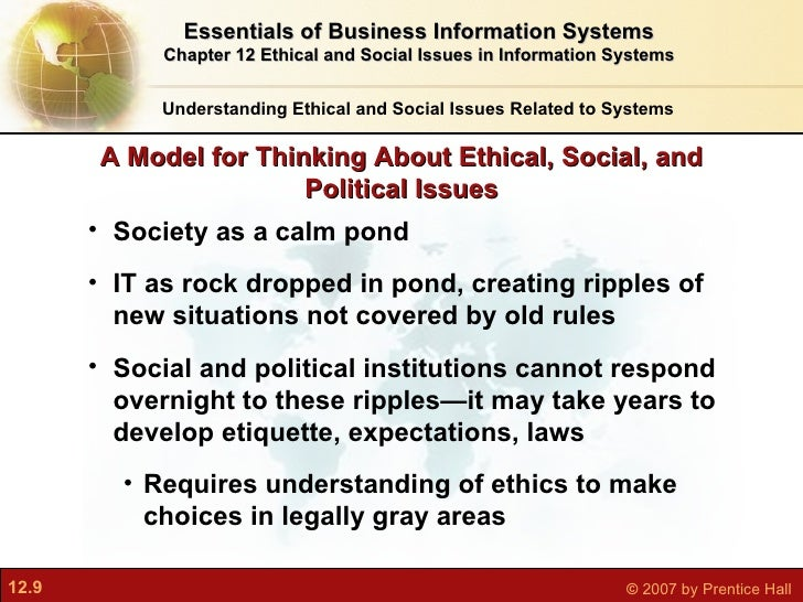 ethical social and political issues are raised by information systems The provisional title of the dissertation is as follows: an examination of legal, ethical and social issues on information systems we will begin our review of the related literature with a close examination of the literature concerning the definition of information systems a clear definition.