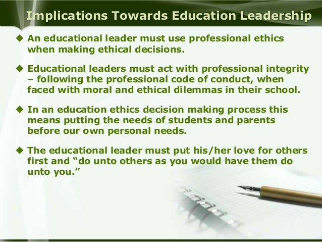 Ethical Decision Making and Behavior