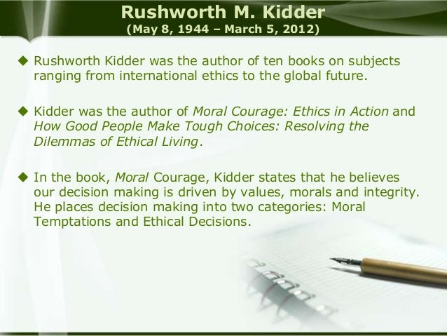 Kidder's Checkpoints for Ethical Decision-Making