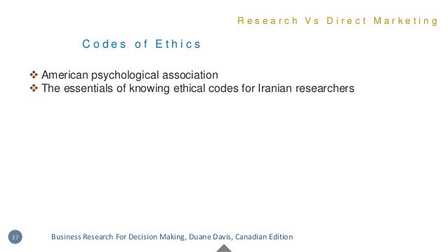 C o d e s o f E t h i c s  American psychological association  The essentials of knowing ethical codes for Iranian resea...