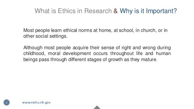 Most people learn ethical norms at home, at school, in church, or in other social settings. Although most people acquire t...