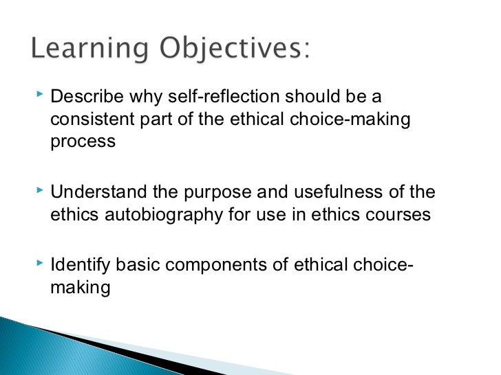 a personal ethics reflection It appears that my ethical framework may be somewhat eclectic nonetheless,  having happened to read the articles on deontology and.