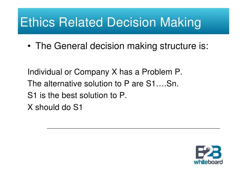 how to make ethical decisions in business