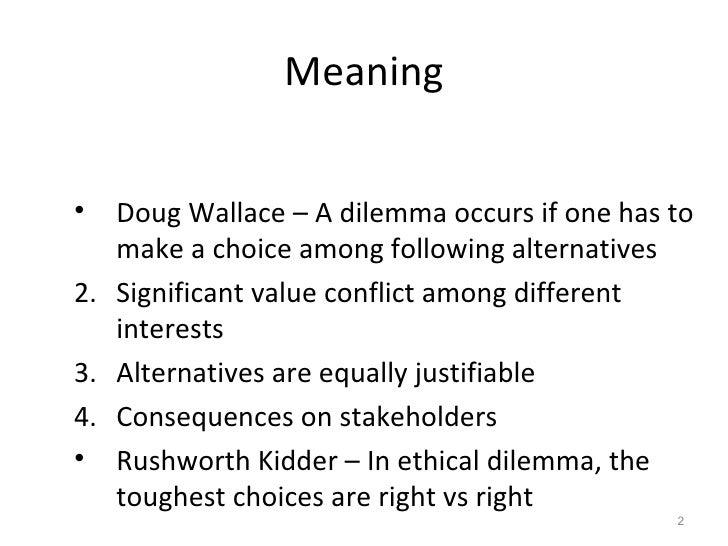 Superb Ethical Dilemmas; 2.