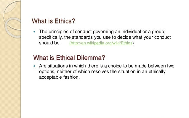 ethical dilemma in the workplace