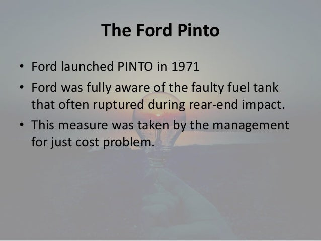the ethical dilemma in the ford Pervick was concerned about preserving pervick auto's ford motor company was a big player in the first ethical dilemma occurred during the first.