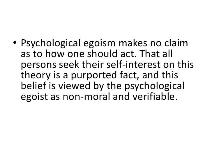 psychological egoism