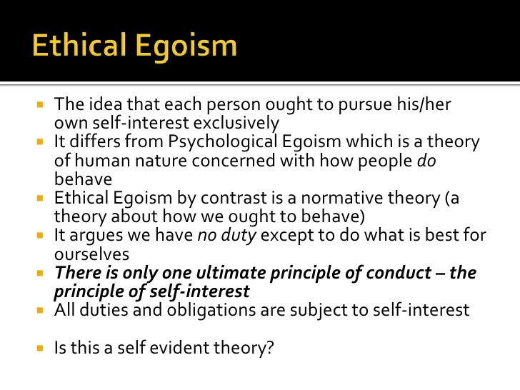 individual ethical egoism Essays - largest database of quality sample essays and research papers on universal ethical egoism.
