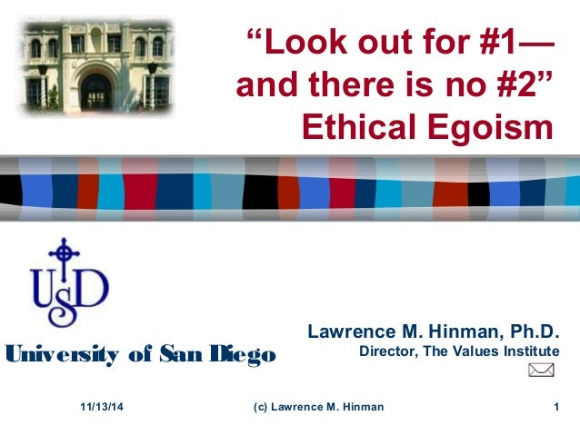 a comparison of ethical egoism and virtue in ethics