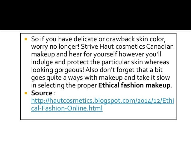 Ethical clothing online canada