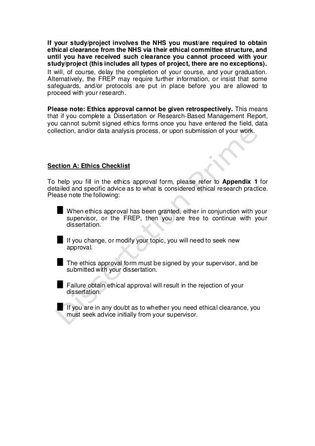 Dissertation ethical considerations pdf writer