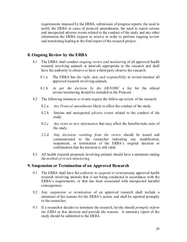 ethical guidelines for animal research
