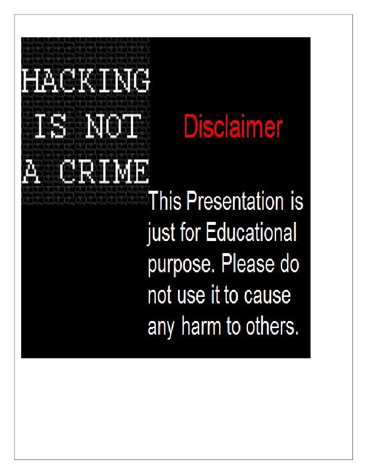 ACKNOWLEDGMENTS                Google.com               Youtube.com              Hackforums.netMr. Sunny Vaghela (Certifie...